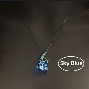 New Mermaid necklace on glow-in-dark caged bead